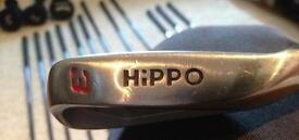 One full set of Hippo irons, flexible shafts!