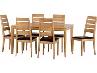New Solid Small Compact Dining Table & 6 Chairs ONLY £349 IN STOCK NOW
