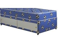 BLUE Football single bed with mattress and drawer. Free delivery