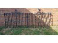 Set of black metal gates
