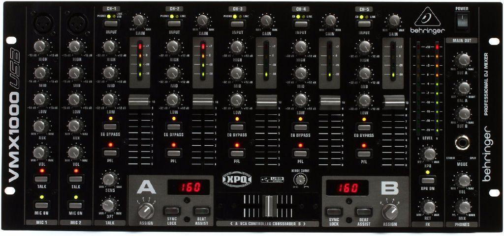 Behringer Vmx1000 Usb 7 Channel Rack Mount Dj Mixer In
