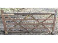 2.4m Wooden 5 bar gate