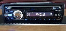 CAR HEAD UNIT SONY XPLOD MP3 CD PLAYER WITH BLUETOOTH AUX 4x 50 AMPLIFIER AMP STEREO RADIO BT