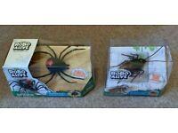 Zuru Robo Alive Twin Pack, Crawling Spider & Cockroach, Brand New, Unopened
