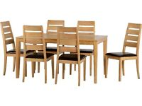 NEW Solid Compact / Small Dining Table & four chairs IN STOCK NOW get yours today