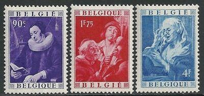Belgien**KULTUR-JORDAENS GEMAELDE-3 Mkn vn Block 22-KW 170 €-1949-Kunst