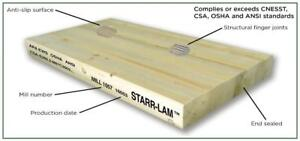 STARR-LAM Glue Laminated Scaffold Plank - LVL reliability at solid sawn price!