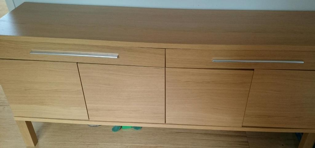 ikea bjursta sideboard oak veneer buy sale and trade ads. Black Bedroom Furniture Sets. Home Design Ideas