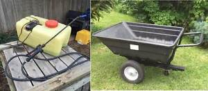 RIDE ON MOWER TRAILER AND WEED SPRAYER Mount Martha Mornington Peninsula Preview