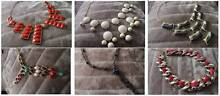 6 Different Style Necklaces Bundle 2 - Red, Grey, White, Black Templestowe Manningham Area Preview