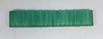 Artistic Glass Tile Frost Green border 1.5 x 7 3/4