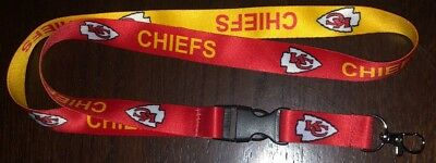 NFL Kansas City Chiefs Football Breakaway Lanyard New NFL Clip Detachable ID  - Kansas City Chiefs Lanyard