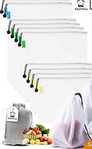 Reusable Grocery & Produce Bags Set of 10