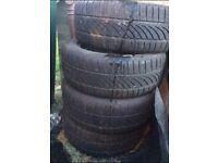 """Ford 16"""" steel wheels & tyres"""
