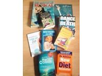 Collection of 9 Mixed Books*TOP TITLES*(Crime,Diet/Exercise,Entertainment etc..)