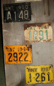 WANTED pre 1960s Ontario Motorcycle plates London Ontario image 1