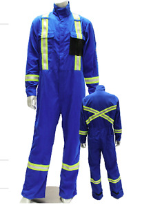 NEW FR COTTON COVERALLS (Apparel Solutions) 7 oz / 9 oz High Vis