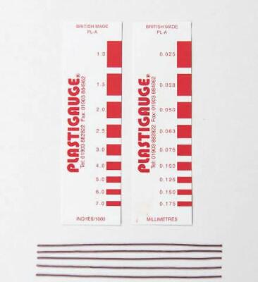 Plastigage calibre PL-A 0.025mm à 0.175mm, Rouge Plastigauge