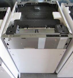 Sharp QW-S12I491X Built-In Slimline Dishwasher