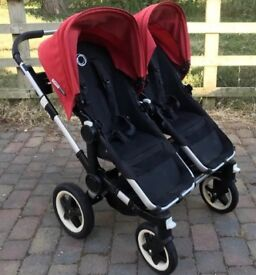 Bugaboo Donkey - Red/Black with just about every accessory you need. Amazing Pram