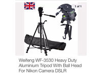 Camera tripod! Brand new with carry bag