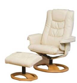 Looking for 2 cream swivel recliner chairs with footstools