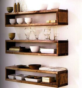 Open wall shelving