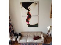 Very large contemporary canvas print (two canvas diptych)