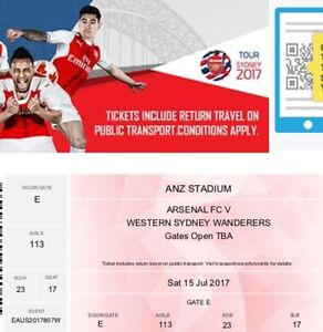 2 x Arsenal v Western Sydney tickets 15/7/17 North Lakes Pine Rivers Area Preview