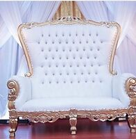 Stunning Luxury Loveseats and Chairs for Wedding, Bridal Showers