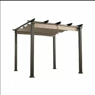 New Grand Luxury Folding Roof Canopy 3M Cappuccino Pergola Gazebo Patio Shelter