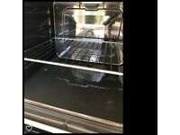 Oven, hob and extractor hood - white
