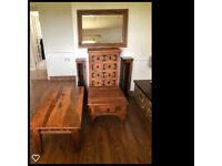 Matching solid wood living room furniture