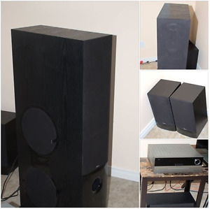 stereo speakers / receiver