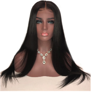 Brazilian Straight Human Hair Lace Front Wig 20 Inches