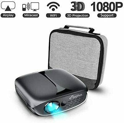 ELEPHAS Mini Portable Projector Wifi DLP HD Pico 3D Video Pocket Projector Suppo