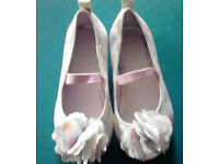 f6089808c5f6 H M New Floral Pastel Peep Toe Pumps Ballerina Girl s Shoes-Size ...