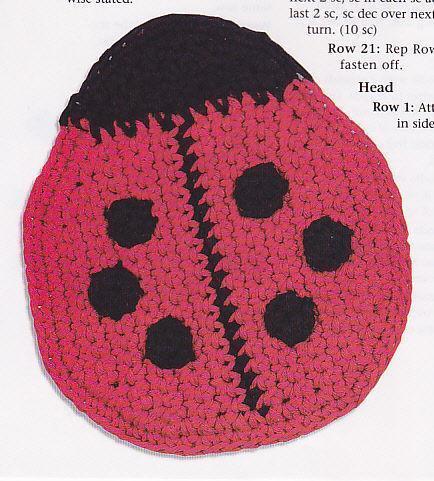 Lady Bug Crochet Pattern Ebay