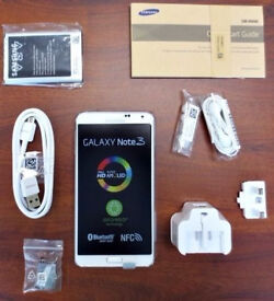 Samsung Galaxy Note 3 sealed SIM FREE UNLOCKED comes with box and all accessories.REFURBISHED