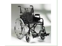 "Enigma 18"" steel wheelchair & cushion"