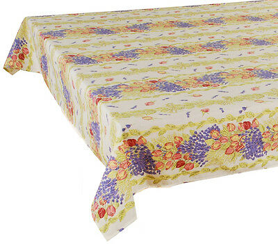 "60"" x 120"" Rectangular COATED Provence Tablecloth - Rose Lavender"