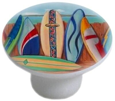 SURFBOARDS Ceramic CABINET DRAWER Pull KNOB  Ceramic Cabinet Drawer Pull Knob
