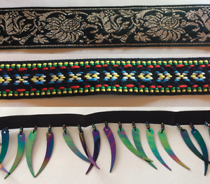Ribbon Braid Trim, Tooth & Bead Fringe 40% Discount multiple buys Londonderry Penrith Area Preview