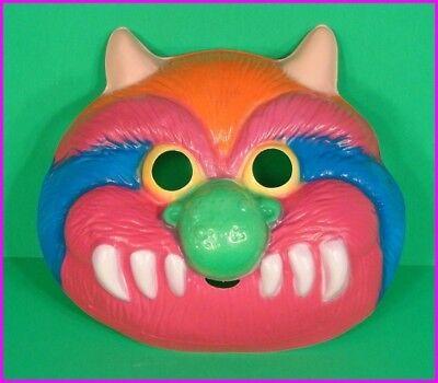* My Pet Monster Halloween Adult Costume Mask Colorful Fun Ben Cooper 1986 NEW *