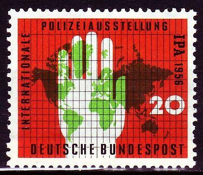 GERMANY BUND BRD 1956 MI 240 POLIZEIAUSSTELLUNG IPA POLICE EXHIBITION