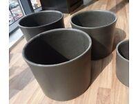 Modern Large B&Q Miami Plant Pot 28cm diameter