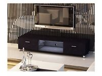 Black Gloss MDF TV Stand with LED light for TV sizes 32 to 70 inches Brand New in Box