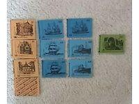 11 GPO pre-decimal stamp books 1970