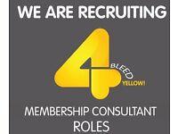 Membership Consultant – Renfrew £15,000 + Commission + Bonus [OTE £28,000 - £38,000]