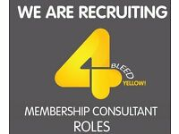 Membership Consultant – Renfrew £15,000 + Commission + Bonus [OTE £28,000 - £38,000]